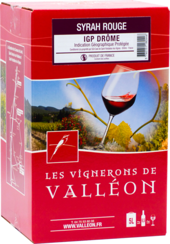 IGP Drôme Rouge Syrah 10L