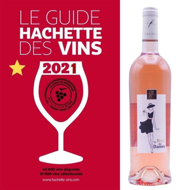 Une étoile au guide Hachette 2021 pour notre Rosé des Dames